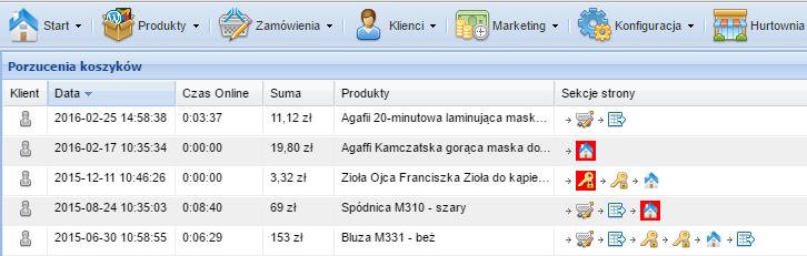moduł porzuconych koszyków w oprogramowaniu Sky-Shop.pl