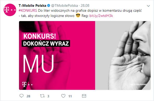 Profil T-Mobile Polska na Twitterze