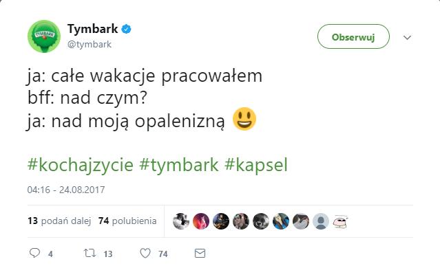 Konto Tymbarka na Twitterze