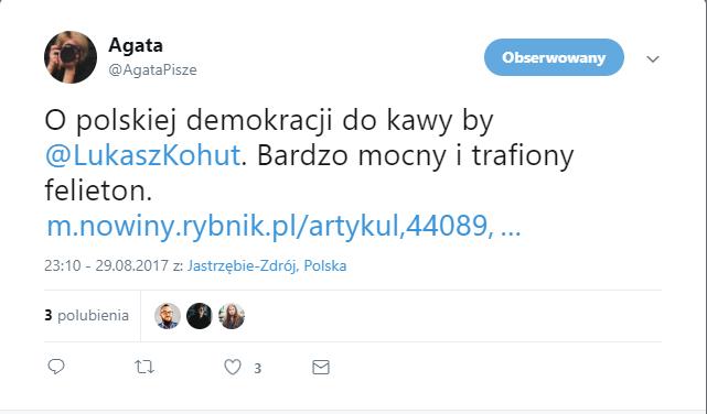 Profil Agata Pisze, blogerki i Specjalistki od PR e-sklepu BosaStopka.pl na Twitter