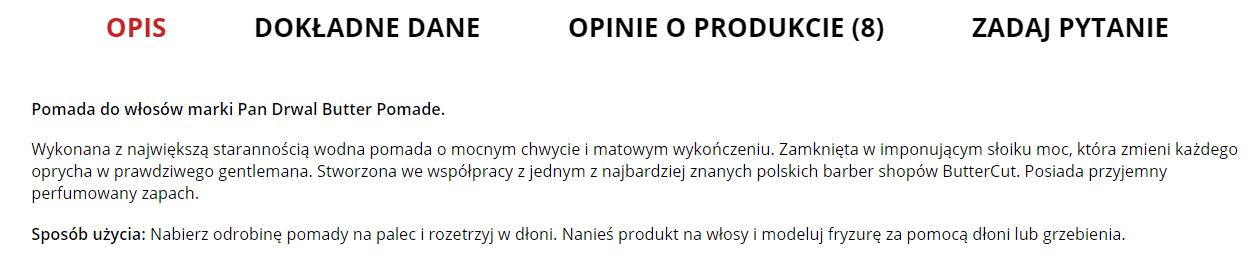 fajny opis produktu w sklepie internetowym