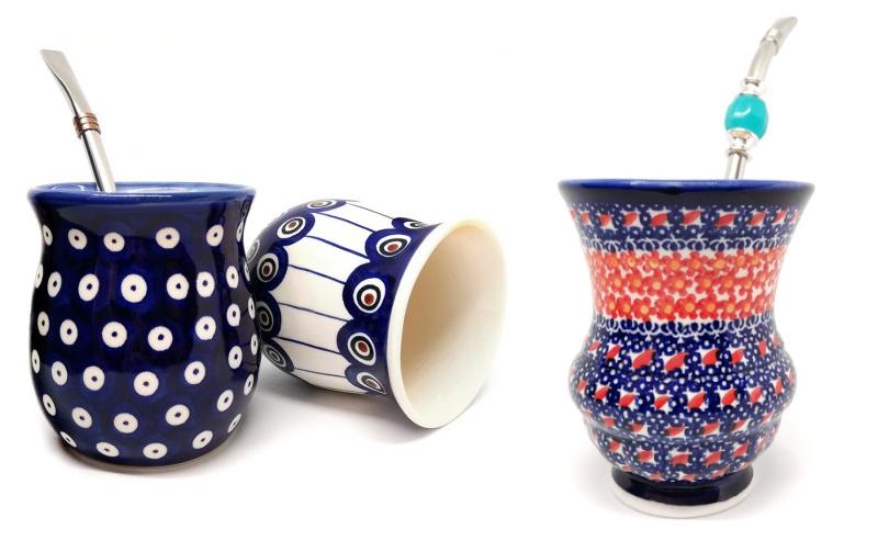 ręcznie malowane naczynia do Yerba Mate