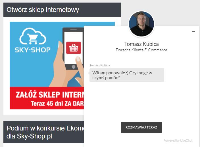 live chat w sklepie internetowym