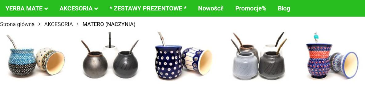 kategoria matero w sklepie internetowym aleyerba.pl