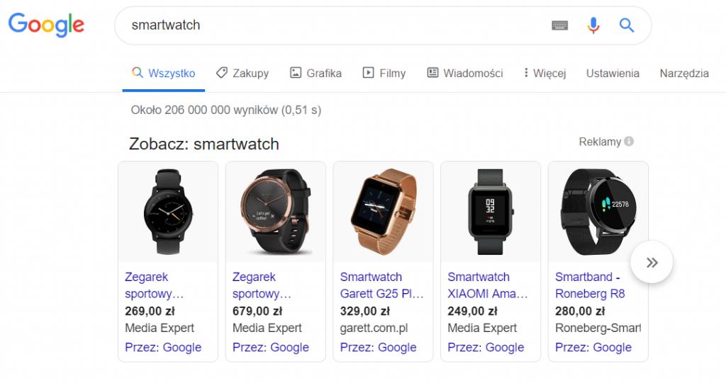 PLA czyli reklama produktowa Google Ads dla e-commerce