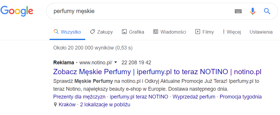 reklama Google Ads sklepu internetowego