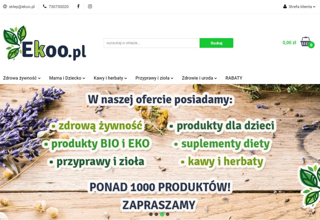 sklep spożywczy online korzystający z oprogramowania Sky-Shop.pl