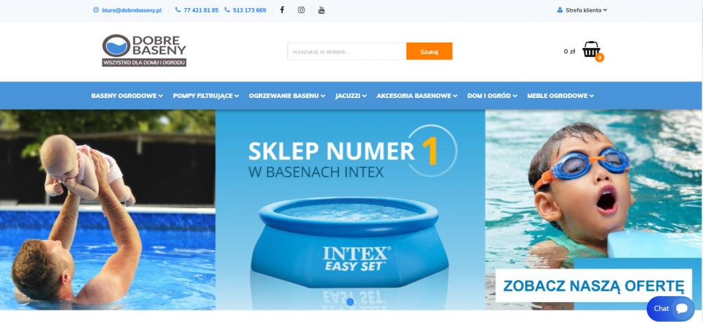 sklep internetowy z basenami ogrodowymi na oprogramowaniu Sky-shop.pl