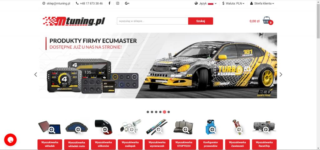 sklep internetowy z czesciami samochodowymi mtuning.pl