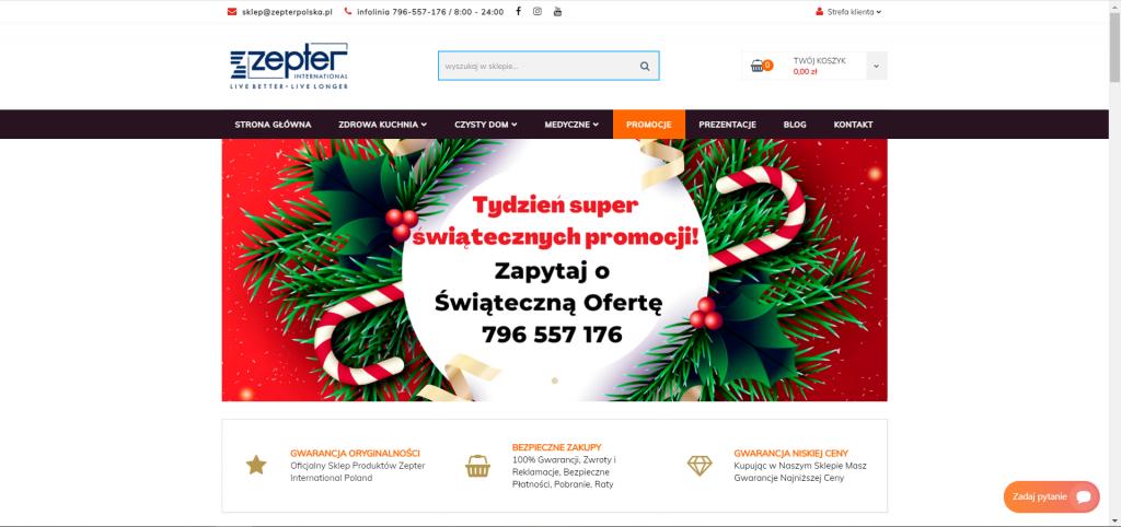 Sklep internetowy z produktami marki Zepter