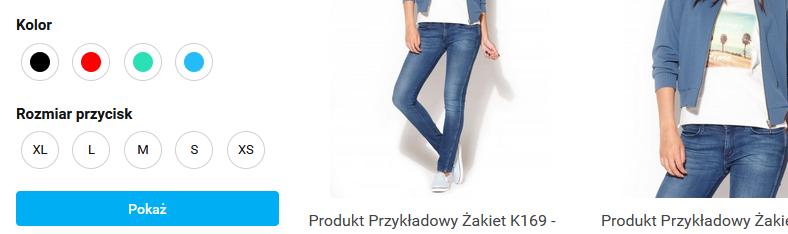 filtr parametrów na karcie produktów_Sky-Shop.pl