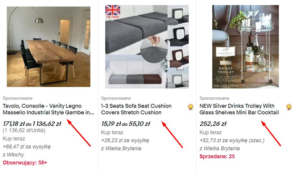 nazwy ofert na ebay